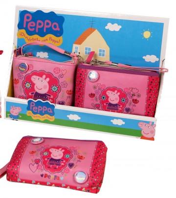 Kabelka a peněženka Peppa Pig Květiny