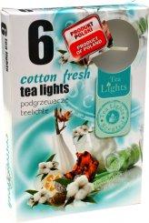 Čajové svíčky 6 kusů –  Vůně svěží bavlny