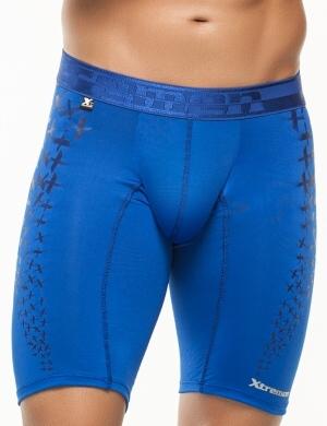 Pánské boxerky Xtremen Sports Boxer Printed Blue King, Velikost oblečení L