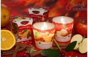 Vonná svíčka ve skle – Pomeranč a skořice, 75g