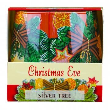 Vonná svíčka ve skle - Christmas Eve, Stříbrný smrk, 100g