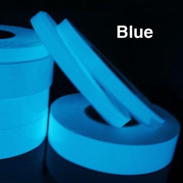 Orientační a výstražná fluorescenční páska, 5m - modrá