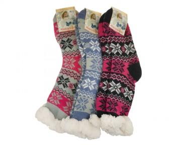 Protiskluzové extra termo ponožky, 1 pár, velikost 35-38 - kombinace barev