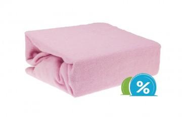 Cearșaf plușat pentru copii 60x120 cm - roz
