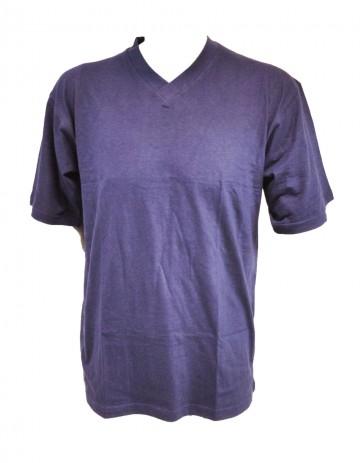 Pánské bavlněné tričko - modré, velikost XL