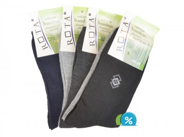 Pánské klasické bambusové ponožky ROTA B022 - 5 párů, velikost 39-42