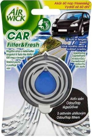 AirWick Car - osvěžovač vzduchu - vůně nového auta a svěžest oceánu, 3ml