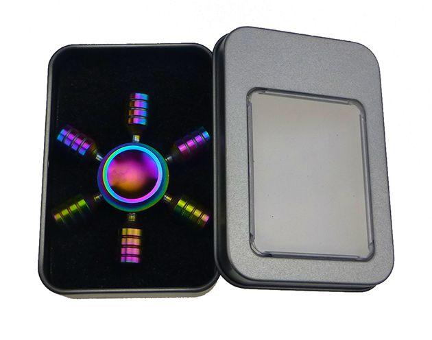 Fidget spinner - fém, fényes, díszdobozban - kerek [9084]