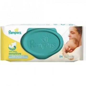 Pampers Vlhčené ubrousky - New Baby Sensitive, 54ks