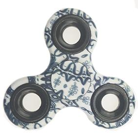 Fidget spinner - černo-bílý
