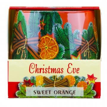 Vonná svíčka ve skle - Christmas Eve, Sladký pomeranč, 100g