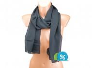 Letní šátek jednobarevný - černý
