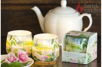 Vonná svíčka ve skle - Roayal Tea růže, 100g
