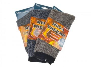 Pánské MEGA termo ponožky M1591 - 3 páry, velikost 40-43