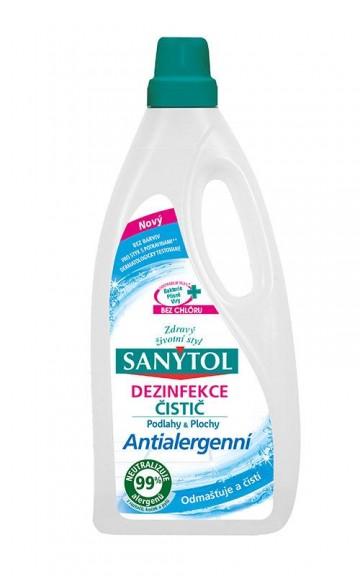 Sanytol - dezinfekční antialergení čistič na podlahy a ostatní plochy, 1000 ml