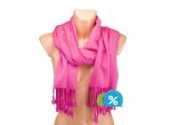 Jednobarevná šála - sytě růžová
