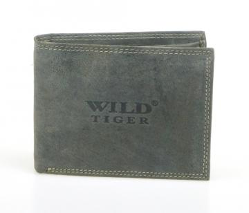 Pánska peňaženka Wild Tiger - sivá bez cvočku [943]