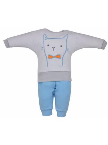2-dielna detská súpravička Koala Robin mačička sivo-modrá