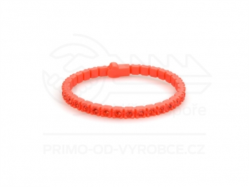 Náramek gumový s kamínky - červený