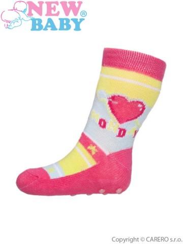 Dojčenské ponožky New Baby s ABS farebné monday