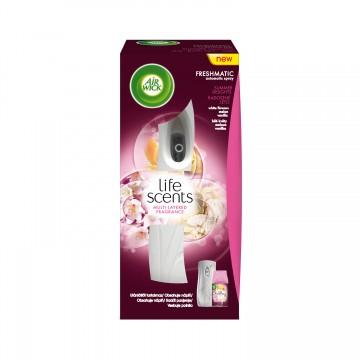 Air Wick Freshmatic osvěžovač vzduchu, bílý + náplň - Radostné léto, 250ml