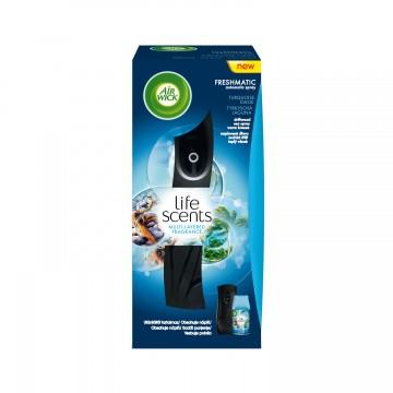 Air Wick Freshmatic osvěžovač vzduchu, černý + náplň - Tyrkysová laguna, 250ml