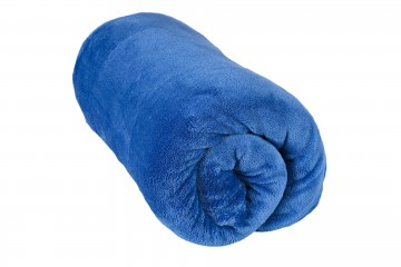 Mikroszálas pléd, méret 200x220 cm - kék