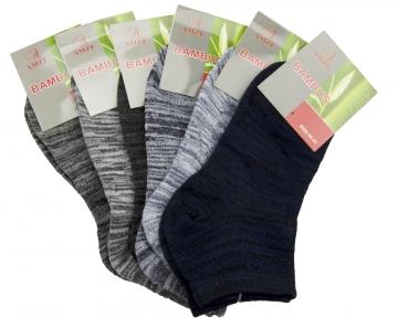 Pánské kotníkové bambusové ponožky kombinace barev - 15 párů, velikost 44-46