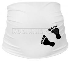 Těhotenský pás s nožičkami - bílý, velikost L/XL