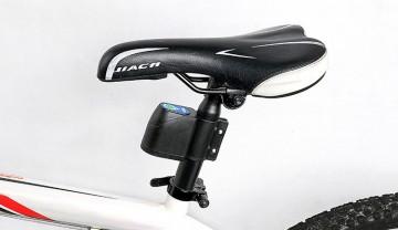 Yală de siguranță, cu detector la zdruncinare, cu comutator la distanță pentru biciclete