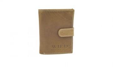 Pánská peněženka Wild by Loranzo - tmavě hnědá, na výšku [992]