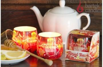 Vonná svíčka ve skle - Roayal Tea citron a med, 100g