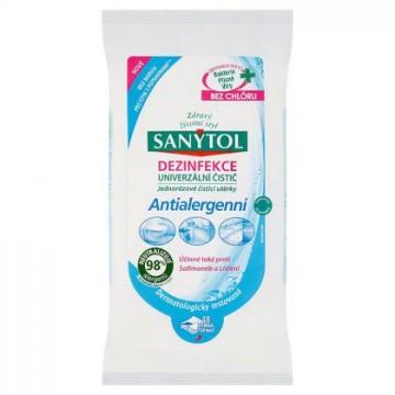 Sanytol - antialergenní dezinfekční ubrousky, 48 ks