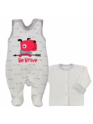 2-dielna dojčenská semišková súprava Koala Be Brave béžová