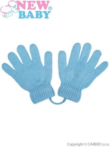 Dětské zimní rukavičky New Baby světle modré