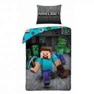 HALANTEX Povlečení Minecraft Steve Bavlna, 140/200, 70/90 cm