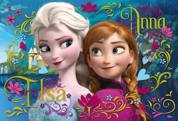 Puzzle Jégvarázs Anna és Elsa 100 darab