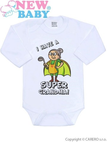 Body s potlačou New Baby SUPER FAMILY, SUPER GRANDMA