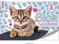BENIAMIN Blok na kreslení s omalovánkami Sweet Pets Kotě Papír, 29x21 cm
