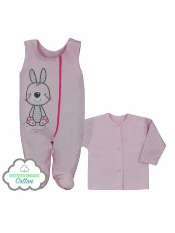 2-dílná kojenecká BIO souprava Koala Bunny růžová