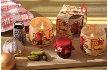 Vonná svíčka ve skle - Home & kitchen ovocný džem, 100g