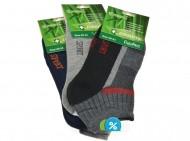 Pánské bambusové zdravotní kotníkové ponožky Pesail XM2242 - 3 páry, velikost 44-47