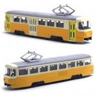 Kovová tramvaj Tatra T3, 18,5 cm - žluto-krémová