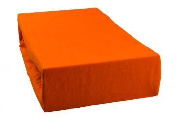 Prostěradlo jersey 90x200 cm - světle oranžové