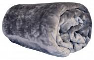 Deka z mikroflanelu, velikost 200x220 cm - šedá