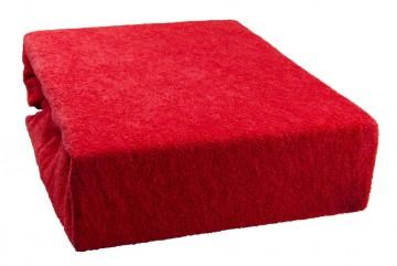 Prostěradlo froté 90x200 cm - červené