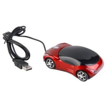 USB optická myš - sportovní auto