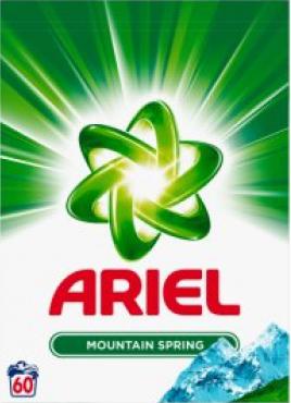 Ariel prací prášek na bílé prádlo, 4,5 kg - 60 dávek