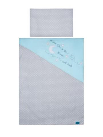5-dílné ložní povlečení Belisima Amore Mio 100/135 modré