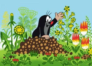 Dětský koberec Krteček a květiny 95/133